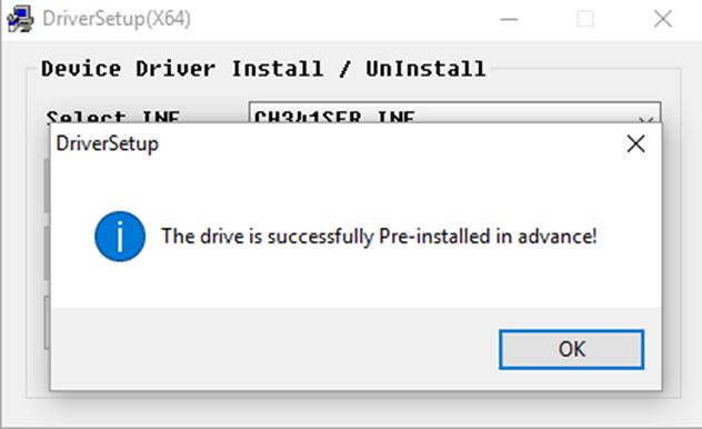 Intalação do NodeMCU no Windows Driver CH341 Concluído