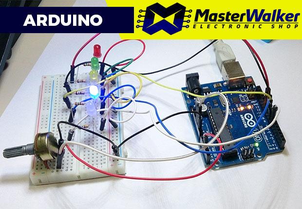 Arduino – Sequencial de LEDs com Potenciômetro