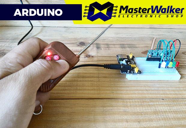 Utilizando o Controle Remoto RF e Receptor RF