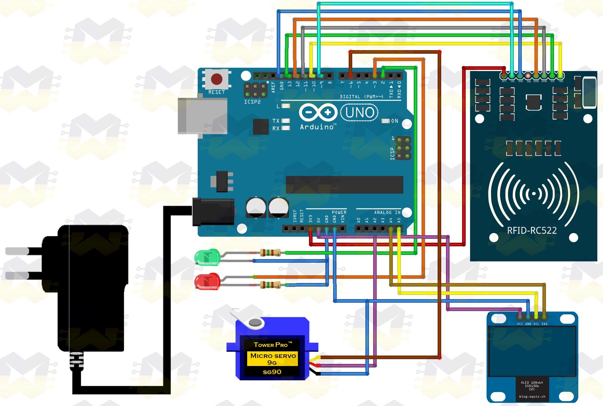 img02_arduino_cancela_controlada_por_rfid_servo_motor_sg90_display_oled_tag_cartao_chaveiro_automacao_controle_acesso_uno_mega_2560