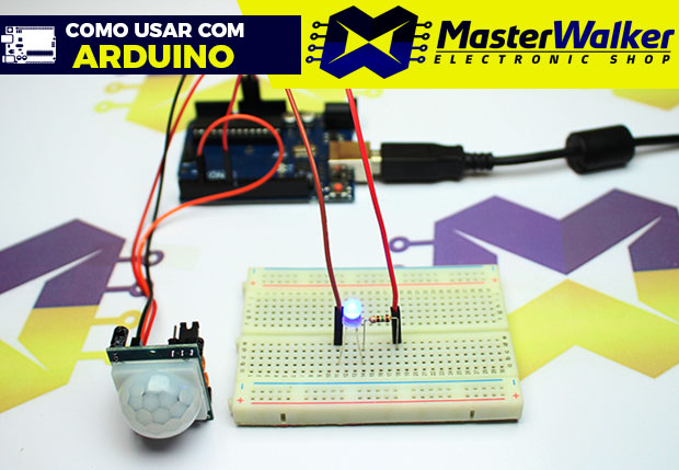 Como usar com Arduino – Sensor PIR (Detector) de Movimento