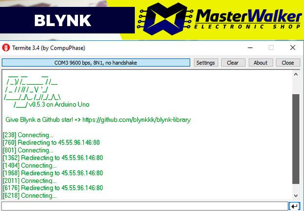 Blynk – Problema na conexão USB com Arduino (Connecting / Redirecting)