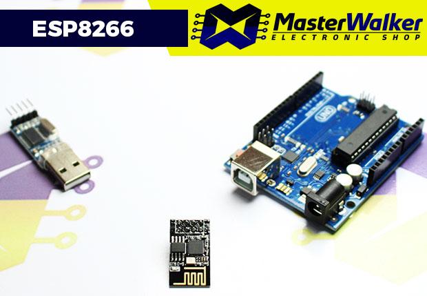 Upgrade de Firmware do WiFi ESP8266 ESP-01 através do Arduino e Conversor USB Serial