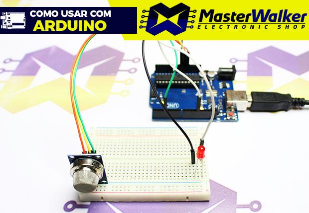 Como usar com Arduino – Sensor (Detector) de Gás Inflamável / Fumaça – MQ-2