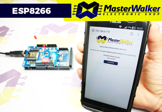 Webserver com o Shield WiFi ESP8266 para Arduino