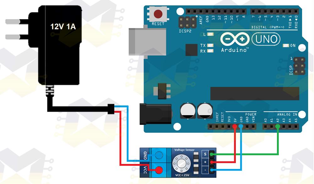 img01_ como_usar_com_arduino_sensor_medidor_de_tensao_dc_0_25v _detector_fonte_multtimetro_voltimetro_uno_mega_nano