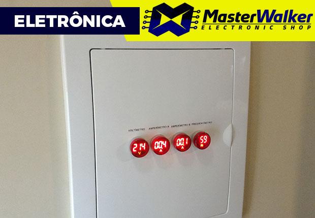 Medidor (Tensão / Corrente / Frequência) para Quadro de Energia