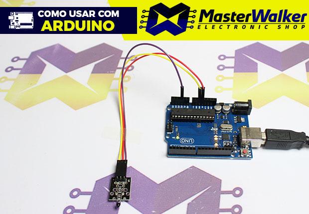 Como usar com Arduino – Módulo Termistor NTC 10K (Sensor de Temperatura) KY-013