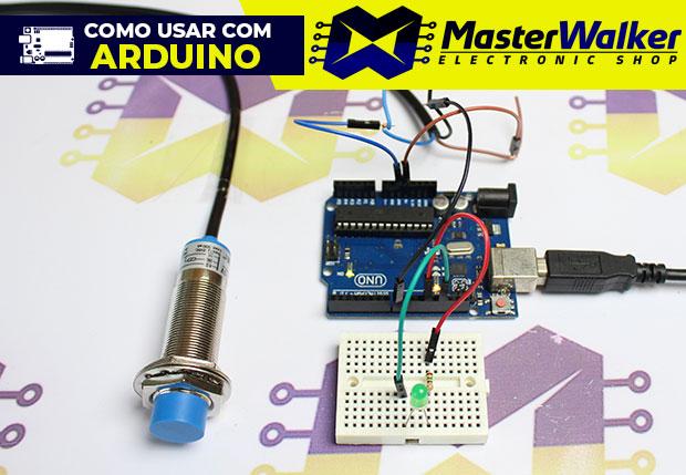Como usar com Arduino – Sensor Indutivo PNP de Proximidade 5V LJ18A3-8-Z/BY
