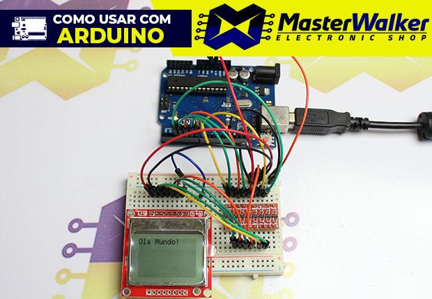 Como usar com Arduino – Display LCD 84×48 Nokia 5110