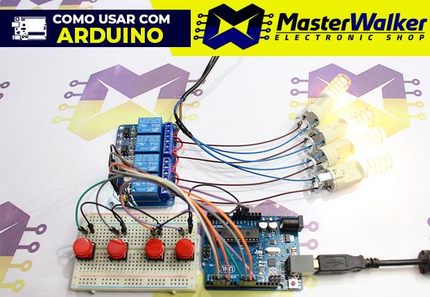 Como usar com Arduino – Módulo Relé 5V de 4 Canais