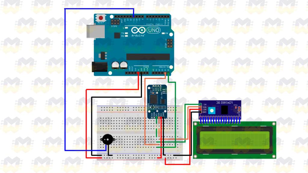 Esquema de ligação - Criando um despertador com o arduino