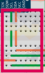 despertador com arduino: Ligando o Módulo Ds3231 e Display LCD com adaptador I2C na protoboard